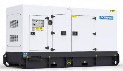 Дизельный генератор Power Link GMS200C в кожухе с АВР