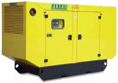 Дизельный генератор Aksa AC-55 в кожухе с АВР