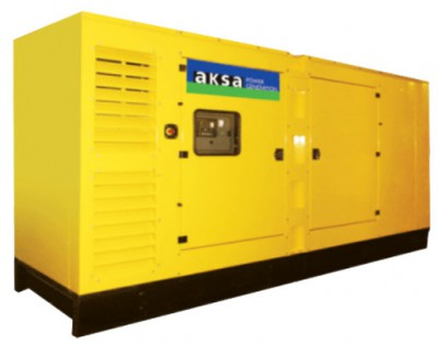Дизельный генератор Aksa AD-490 в кожухе с АВР
