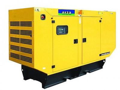Дизельный генератор Aksa APD-110C в кожухе с АВР