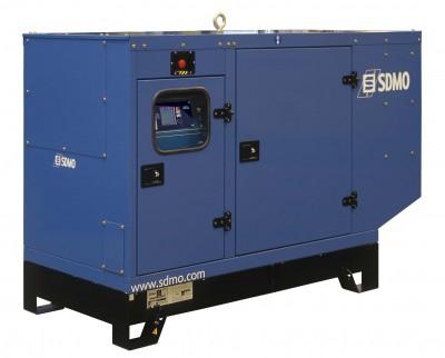 Дизельный генератор SDMO J110K в кожухе с АВР