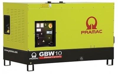 Дизельный генератор Pramac GBW 10 P 3 фазы в кожухе