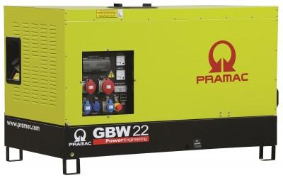 Дизельный генератор Pramac GBW 22 Y в кожухе с АВР