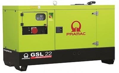 Дизельный генератор Pramac GSL 22 D в кожухе