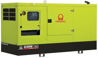 Дизельный генератор Pramac GSW 140 I в кожухе