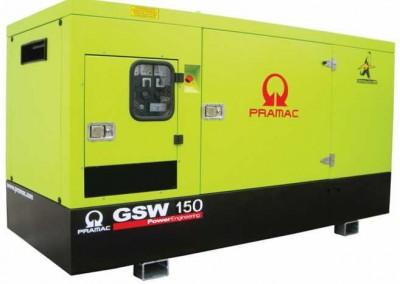 Дизельный генератор Pramac GSW 150 V в кожухе с АВР