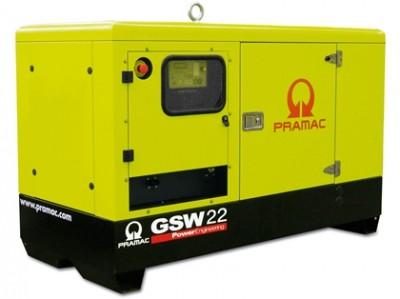 Дизельный генератор Pramac GSW 22 P  AUTO в кожухе