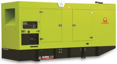 Дизельный генератор Pramac GSW 510 V в кожухе с АВР