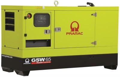 Дизельный генератор Pramac GSW 65 P в кожухе с АВР