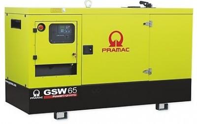 Дизельный генератор Pramac GSW 65 I в кожухе