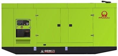 Дизельный генератор Pramac GSW 670 P в кожухе