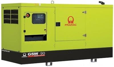 Дизельный генератор Pramac GSW 90 I в кожухе