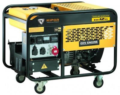 Бензиновый генератор Kipor KGE 12 E3 с АВР