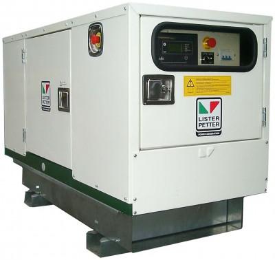 Дизельный генератор Lister Petter LWA 10 3 фазы в кожухе с АВР