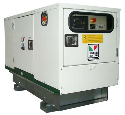 Дизельный генератор Lister Petter LWX 27 3 фазы в кожухе с АВР