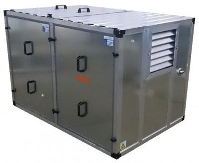 Бензиновый генератор Atlas Copco QEP R12 в контейнере с АВР