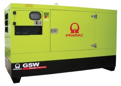 Дизельный генератор Pramac GSW 30 P в кожухе