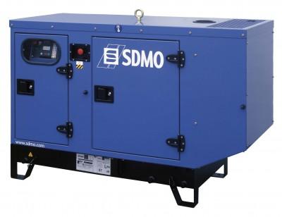 Дизельный генератор SDMO T 17KM в кожухе